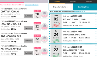 reserved tickets history