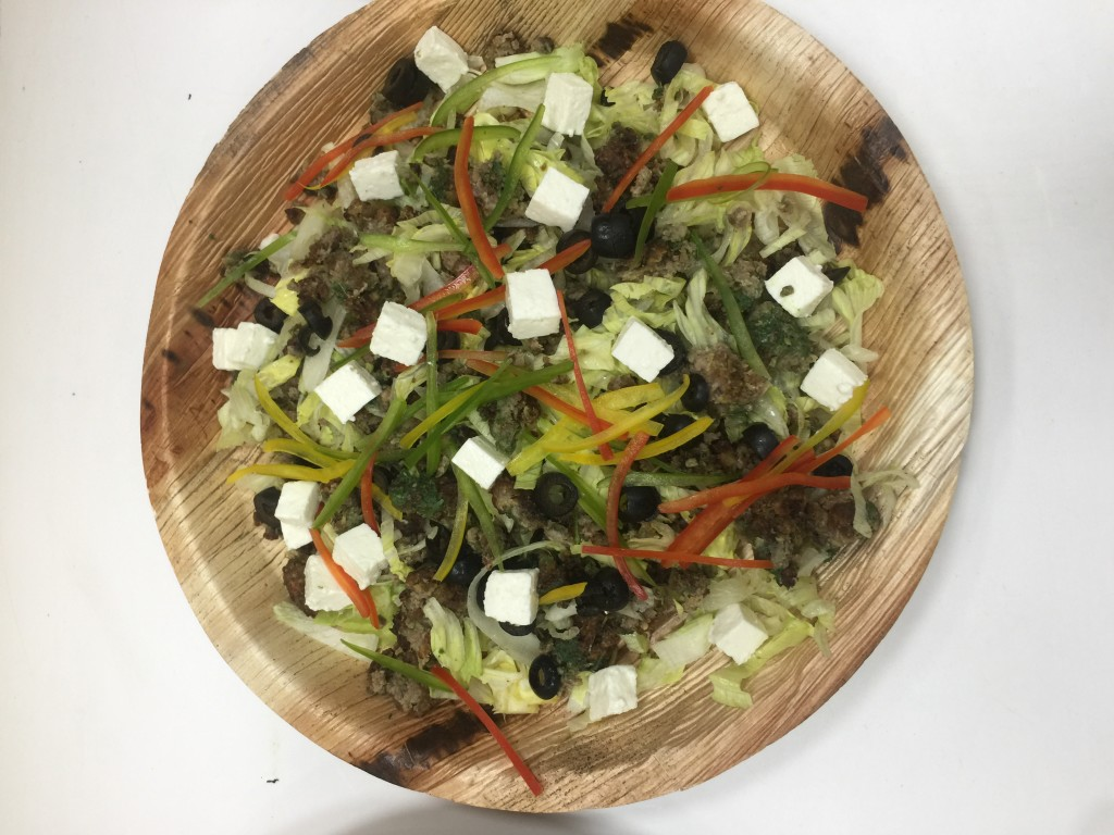 Sheek kebab salad