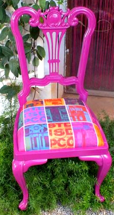 pop pink chair